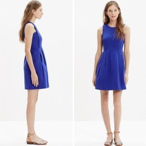 Madewell Abroad Cobalt Fit & Flare Dress